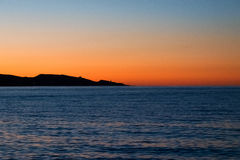 Sunset in St. Florent. Stock Image
