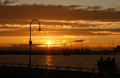 Sunset in St Kilda Royalty Free Stock Image