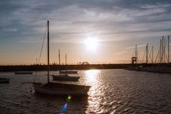 Sunset at St. Kilda Pier royalty free stock photos