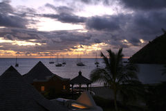 Sunset in St. Lucia Royalty Free Stock Photo