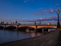 Sunset on St Paul's cathedral Stock Images