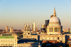 Sunset at St Paul's Cathedral Royalty Free Stock Images