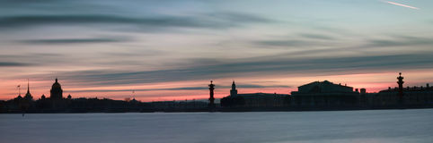 The sunset in St. Petersburg Royalty Free Stock Photo