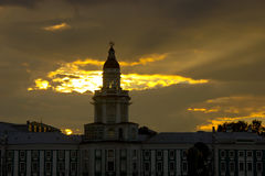 Sunset in St. Petersburg, Russia Royalty Free Stock Photo