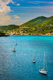 Sunset in St. Thomas. From Carnival Cruise stock images