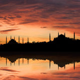 Sunset in İstanbul Stock Photography