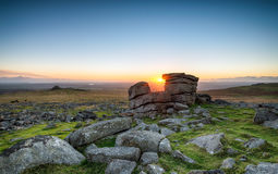 Sunset at Staple Tor Stock Photography