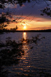 Sunset at Star Lake, WI. Royalty Free Stock Images