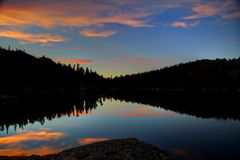 Sunset at Star Lake Stock Images