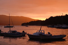 Sunset in Stari Grad Stock Image