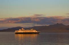 sunset statku Zdjęcie Stock