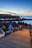 Sunset from the 199 steps whitby Stock Photos