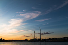 Sunset in Stockgolm Royalty Free Stock Photography