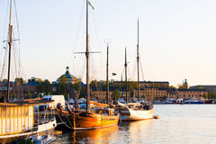 Sunset in Stockholm Stock Photo