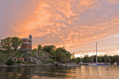 Sunset on Stockholm Royalty Free Stock Photo