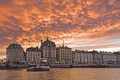 Sunset on Stockholm Stock Images