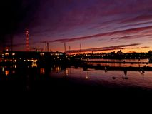 Sunset. In Stockholm Royalty Free Stock Photography