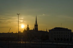 Sunset in Stockholm Royalty Free Stock Images
