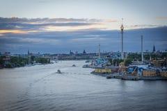 Sunset Stockholm royalty free stock photography