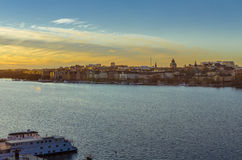 Sunset in Stockholm stock images