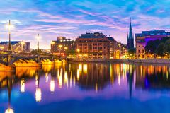 Sunset in Stockholm, Sweden Stock Photography