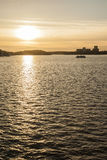 Sunset, Stockholm, Sweden/golden waters. Stock Photos