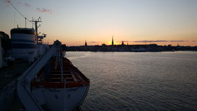 Sunset in Stockholm Stock Image