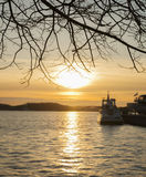 Sunset, Stockholm, Sweden. Royalty Free Stock Photo