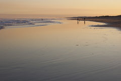 Sunset on Stockton Beach. Anna Bay. Australia. Royalty Free Stock Images