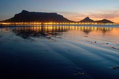 sunset./stolik Obraz Royalty Free
