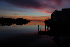 Sunset in Stone Harbor, New Jersey Stock Images