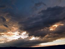 Sunset storm Stock Photography