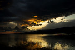 Sunset After Storm at Akcay,Turkey Royalty Free Stock Photo