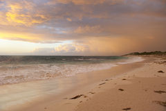 Sunset and Storm Clouds royalty free stock images