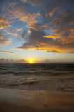 Sunset and Storm Clouds stock images
