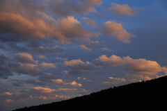 Sunset Storm Clouds Royalty Free Stock Photo
