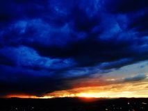 Sunset in a Storm Royalty Free Stock Images