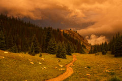 Sunset Storms Over Ute Trail Royalty Free Stock Images
