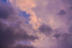 Sunset stormy sky with cloud Stock Photography