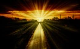 Sunset stream Stock Image