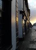 Sunset. Street in Kilbeggan, Ireland, in the sunset Stock Image