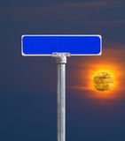 Sunset street sign Stock Photo