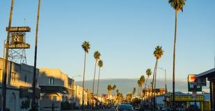 Sunset Strip at dusk Stock Images