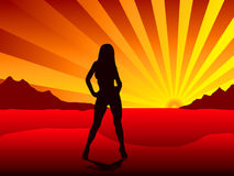 Sunset stripper Royalty Free Stock Photos