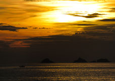 Sunset. Stunning and awesome sunset time in rio de janeiro Royalty Free Stock Photography