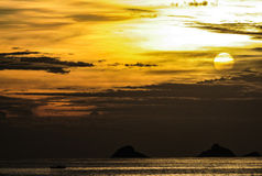 Sunset. Stunning and awesome sunset time in rio de janeiro Stock Images