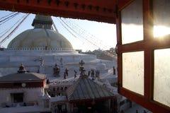 Sunset and stupa Stock Image