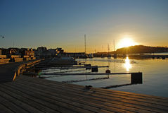 Sunset on Styrsö island, Gothenburg, Sweden Stock Photography