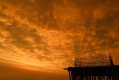 Sunset in suburban area stock photos