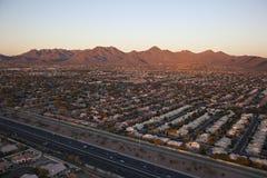Sunset on Suburbia Royalty Free Stock Photos